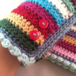Wrist Warmers - buttons