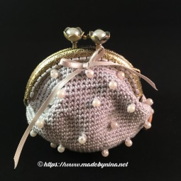 *Silver & Pearl coin purse
