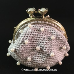 *Silver & Pearl coin purse (back)