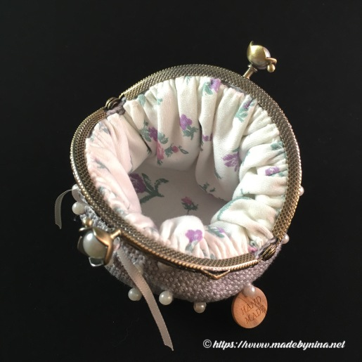 *Silver & Pearl coin purse (inside)