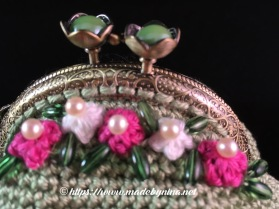 *Green and floral coin purse (detail)