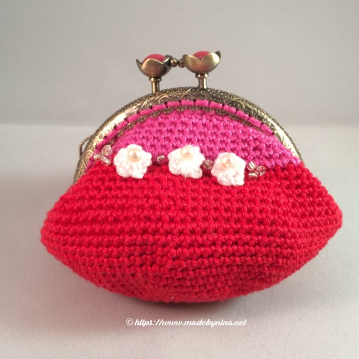 Strawberry & Cream *Coin Purse