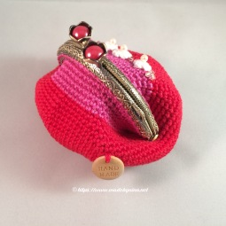 Strawberry & Cream *Coin Purse (back)