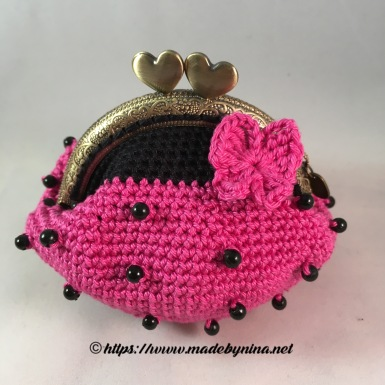Pink 'n Black butterfly *Coin Purse
