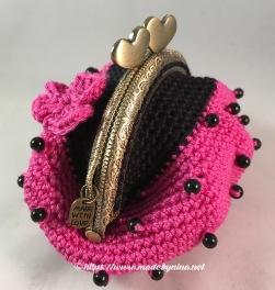 Pink 'n Black butterfly *Coin Purse (Side)