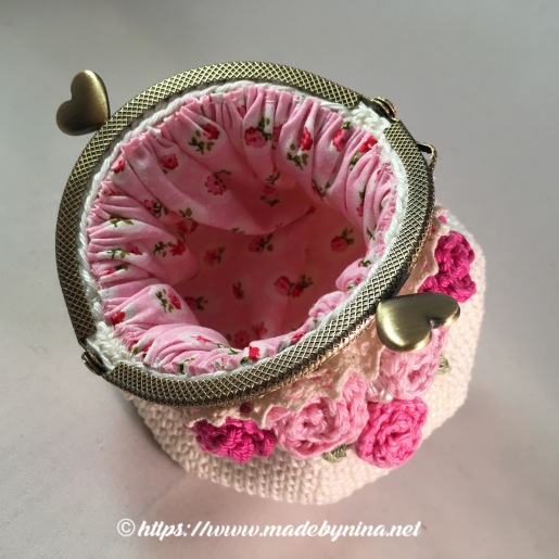 Mom's Cream 'n Rose *coin purse (Inside)