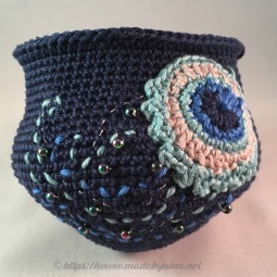 Helen's Peacock Feather *Coin Purse (bead work WIP)