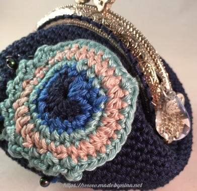 Helen's Peacock Feather *Coin Purse (Close up)