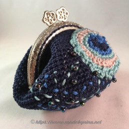 Helen's Peacock Feather *Coin Purse (Side view)