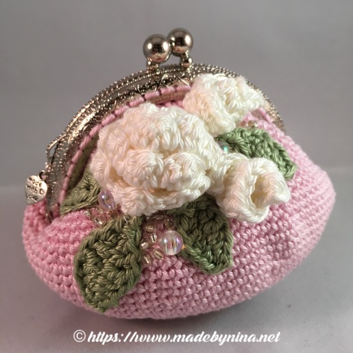 Pink Rose *Coin Purse (Side)