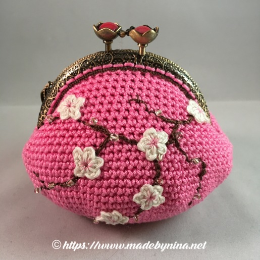 Pink Cherry Blossom *Coin Purse
