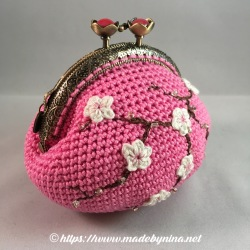 Pink Cherry Blossom *Coin Purse (Side)