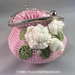 Pink Rose *Coin Purse (open)