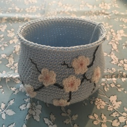 Blue Cherry Blossom *Coin Purse - WIP