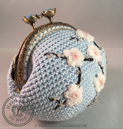 Blue Cherry Blossom *Coin Purse (Side)