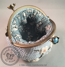 Blue Cherry Blossom *Coin Purse (Inside)