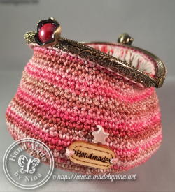 Shades of Pink *Coin Purse (Open back)