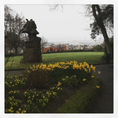 Victor Hugo overlooking the harbour at Candie Gardens, Guernsey