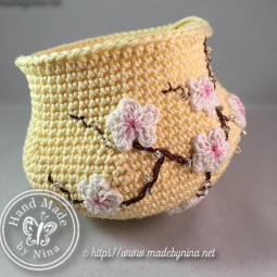Yellow Cherry Blossom *Coin Purse WIP
