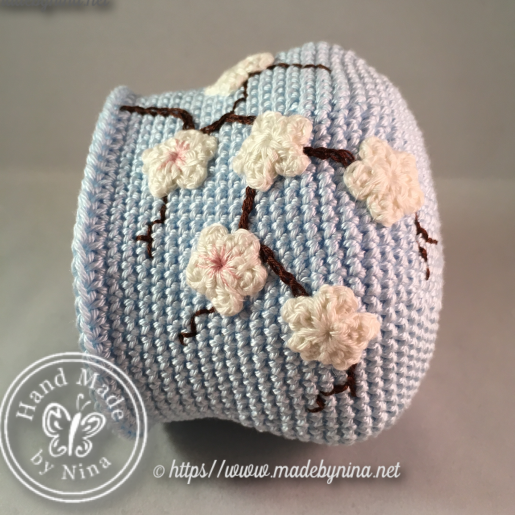 Blue Cherry Blossom *Coin Purse III WIP