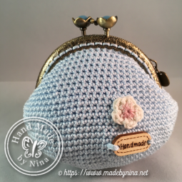 Blue Cherry Blossom *Coin Purse II (Back)