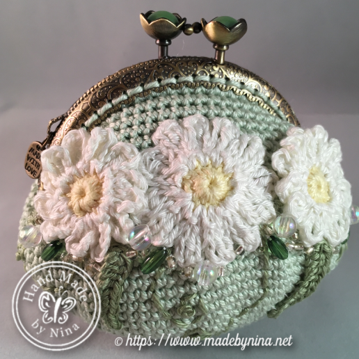 Green Daisy *Coin Purse