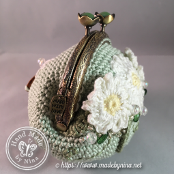 Green Daisy *Coin Purse (side)