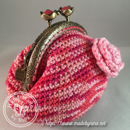 Raspberry Ripple *Coin Purse (side)