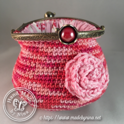 Raspberry Ripple *Coin Purse (open)