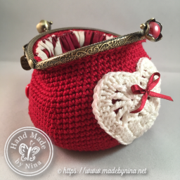Red Love *Coin Purse (Open)
