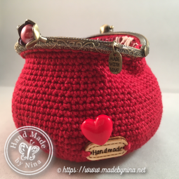Red Love *Coin Purse (open back)