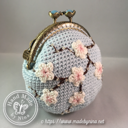 Blue Cherry Blossom *Card Purse (Side)