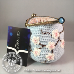 Blue Cherry Blossom *Card Purse (Next to card)