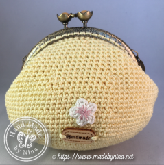 Yellow Cherry Blossom *Card Purse (back)