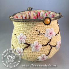 Yellow Cherry Blossom *Card purse (open)