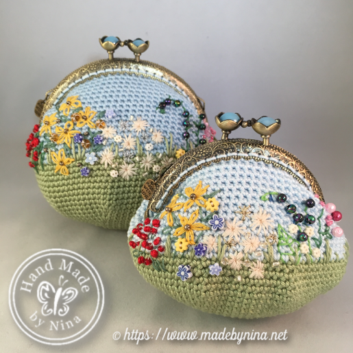 Forever Spring Garden *Card purse (back) and *Coin purse