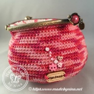 Raspberry Ripple *Card Purse (Open)