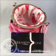 Raspberry Ripple *Card Purse (With credit card on side)