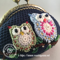 Owl be there for you *Card Purse (close up)