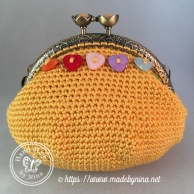 Yellow Rainbow Heart *Card Purse