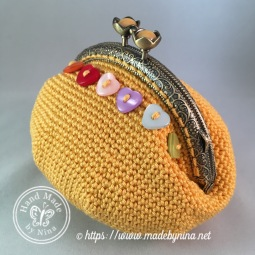Yellow Rainbow Heart *Card Purse (side)