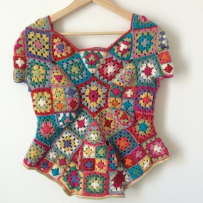 Granny Square 70's Top (front)
