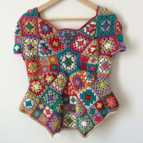 Granny Square 70's Top (back)