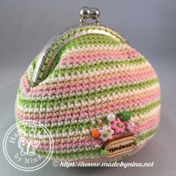 Bianca's Lime and Orange *Card Purse (Back)