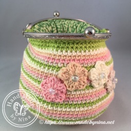 Bianca's Lime and Orange *Card Purse (Open)