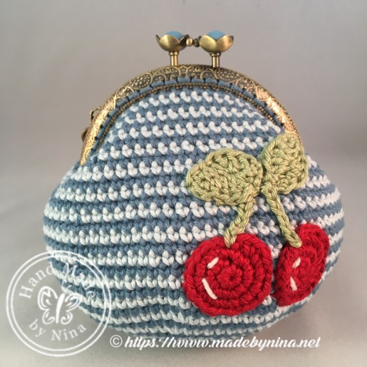 Blue Cherry *Card Purse
