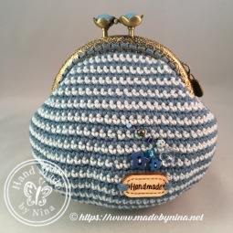 Blue Cherry *Card Purse (Back)