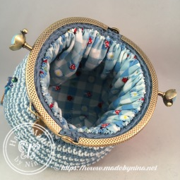 Blue Cherry *Card Purse (Inside)