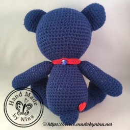 Navy Teddy Bear (back)