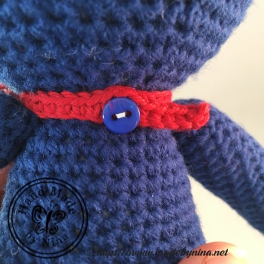 Navy Teddy Bear (Bow Tie back)